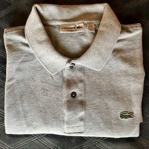 Lacoste Men's gray polo shirt